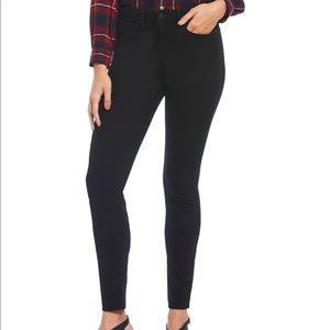 NYDJ Ami Skinny Jeans Black Zip Fly NWT 1365